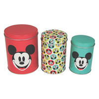 Mickey Mouse Set of 3 Tin Canisters