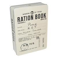 Ration Book Rectangular Storage Tin