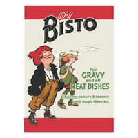 "Bisto ""For All Meat Dishes"" Large Steel Sign"