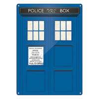 Doctor Who Tardis Large Steel Sign