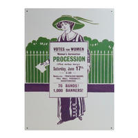Suffragettes Votes For Women Large Steel Sign
