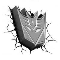 Transformers Decepticon Shield 3D Deco Wall Light