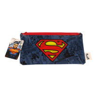 Superman Logo Flat Pencil Case
