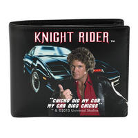 """Knight Rider """"Chicks Dig My Car"""" Faux Leather Wallet"""