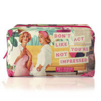 "Bev Ridge & Friends ""Don't Act Like You're Not Impressed"" Fabric Make Up Bag"