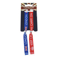 London / Keep Calm And Carry On Pack of 2 Festival Wristbands