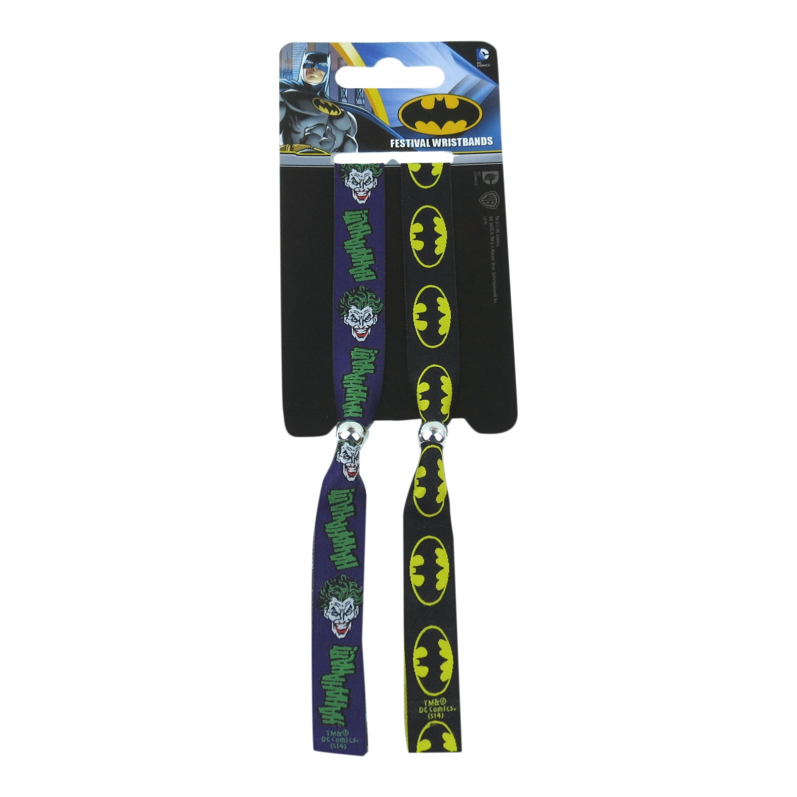 Batman / The Joker Pack of 2 Festival Wristbands