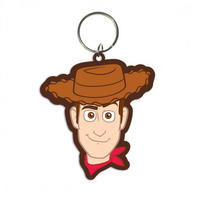 Sheriff Woody Face Rubber Keyring