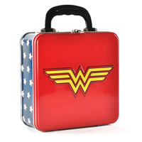 Wonder Woman Logo Embossed Square Tin Tote