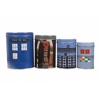 Doctor Who Boxed Set of 4 Canisters