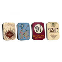 Harry Potter Assorted Set of 4 Pill Tins