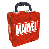 Marvel Logo Embossed Square Tin Tote