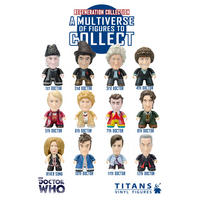 Set Of 12 Main Doctor Who 3 Inch Collectible Vinyl Figures - Wave 6 Regeneration