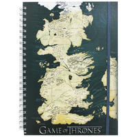 Game Of Thrones Map A5 Hardback Notebook
