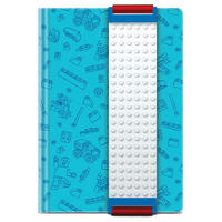 Blue Lego A5 Notebook With Building Band