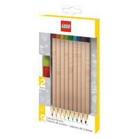 Set of 9 Lego Colouring Pencils