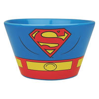 Set of 2 Ceramic Bowls - Batman & Superman Costume Thumbnail 2