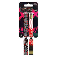 Suicide Squad Katana & Harley Quinn Pack of 2 Festival Wristbands