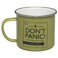 Dad's Army Don't Panic Enamel Mug