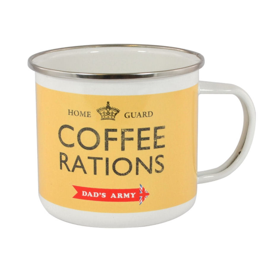 Dad's Army Coffee Rations Enamel Mug