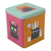 Thinking Cats Hinged Lid Tin Canister