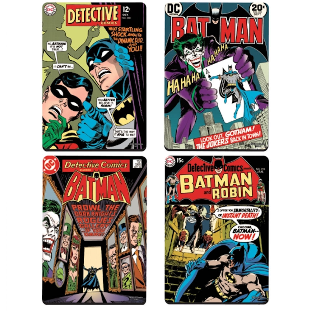 Batman Detective Comic Covers Set of 4 Coasters