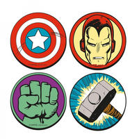 Marvel Icons Set of 4 Round Coasters