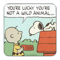 "Peanuts ""Wild Animal"" Single Coaster"
