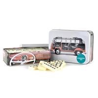 VW Camper Van Domino Set In A Tin