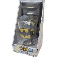 Batman Logo Glass & 4 Beer Mat Coasters Thumbnail 1