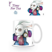 "Alice Through The Looking Glass White Rabbit ""Time For Tea"" Mug"
