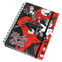 Harley Quinn Red & Black A5 Hardback Notebook