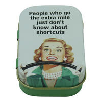 People Who Go The Extra Mile Just Don't Know About Shortcuts Keepsake / Pill Tin