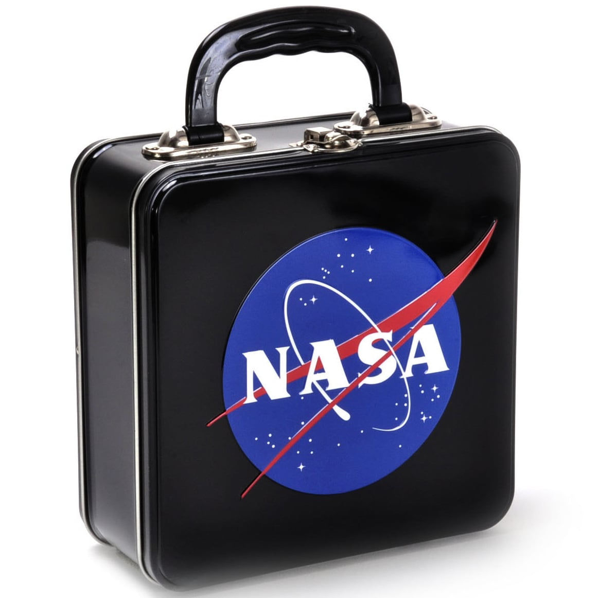NASA Logo Embossed Square Tin Tote