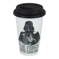 "Darth Vader ""The Force Is Strong With This One"" Ceramic Travel Mug"