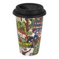 Marvel Comic Covers Ceramic Travel Mug