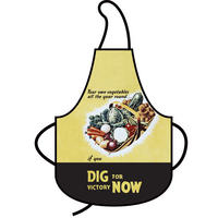"""Dig For Victory Now"" Cotton Apron"