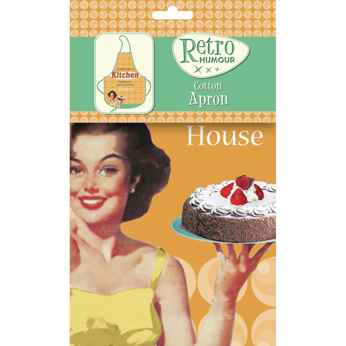 Retro Kitchen Aprons: NEW RETRO HOUSEWIFE KITCHEN APRON VINTAGE 50s NOVELTY