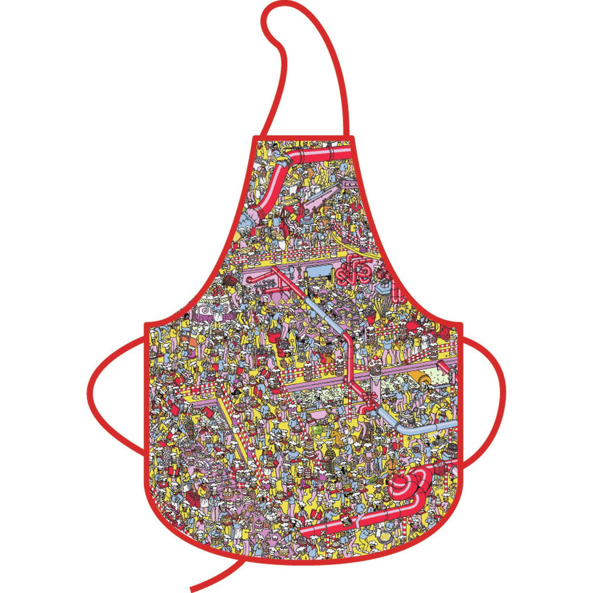 Kitchen Apron : NEW WHERES WALLY CAKE FACTORY KITCHEN APRON 100% COTTON ADULT BBQ ...