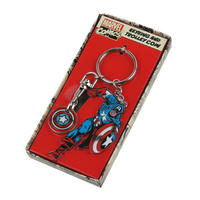 Captain America Trolley Token Keyring