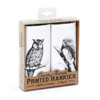 2 Pack Of Owls Hankies