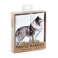 2 Pack Of Collie Dog Hankies