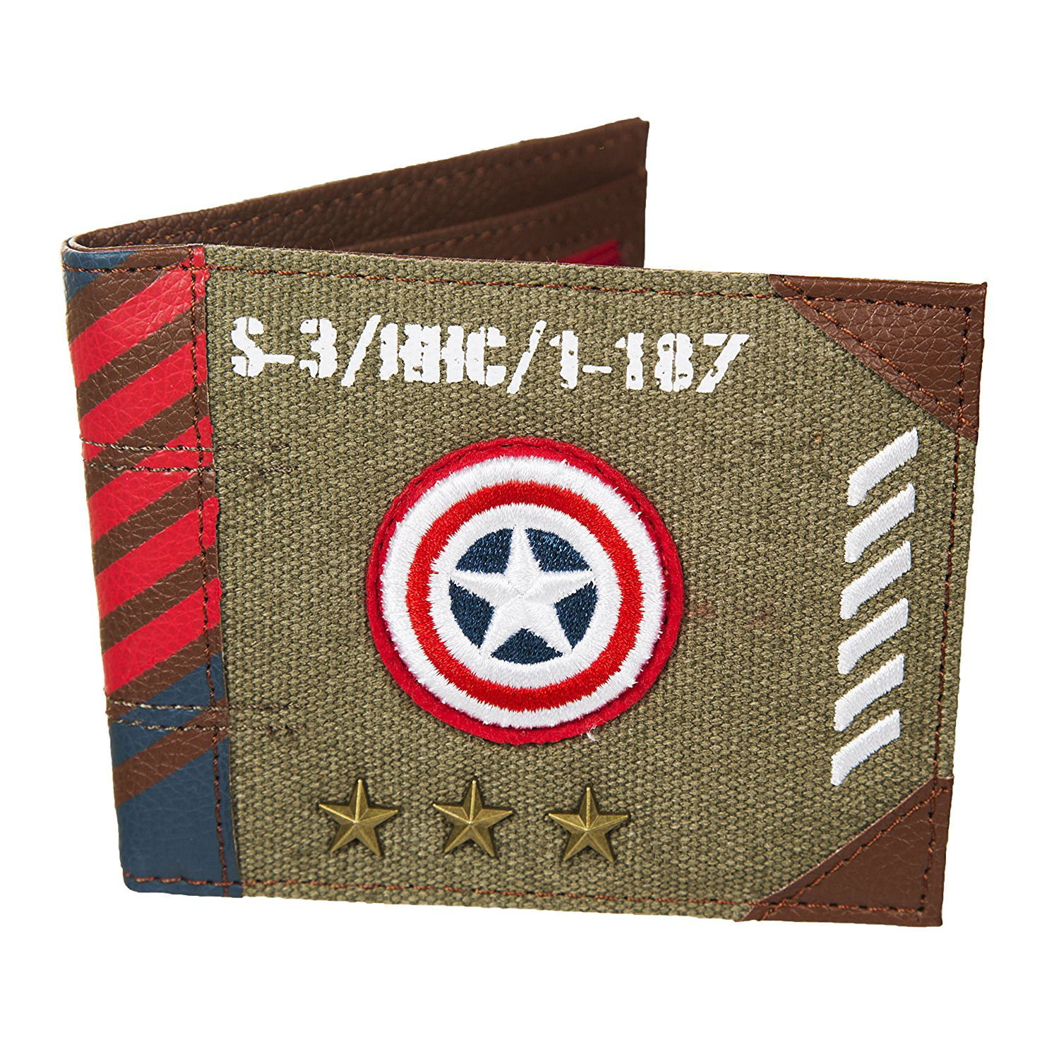 Captain America Vintage Army Canvas Wallet