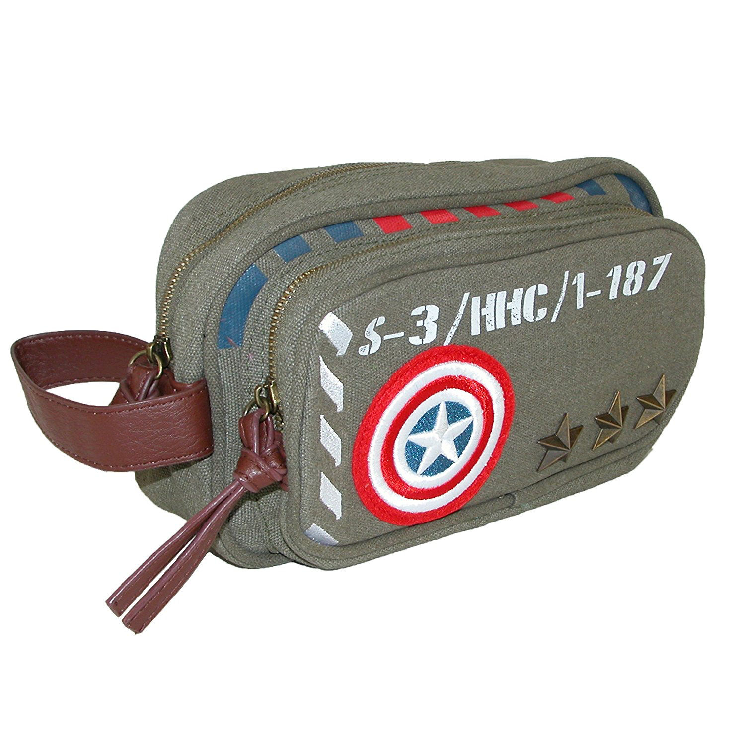 Captain America Vintage Army Canvas Wash Bag