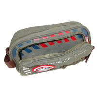 Captain America Vintage Army Canvas Wash Bag Thumbnail 2