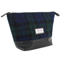 Harris Tweed Black Watch Tartan Wash Bag