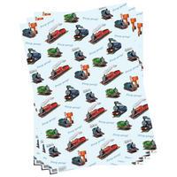 3 Sheets of Thomas The Tank Engine Gift Wrap