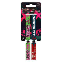 Suicide Squad The Joker & Deadshot Pack of 2 Festival Wristbands