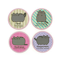 Pusheen Cat Emotions Coaster Set (4 Coasters)