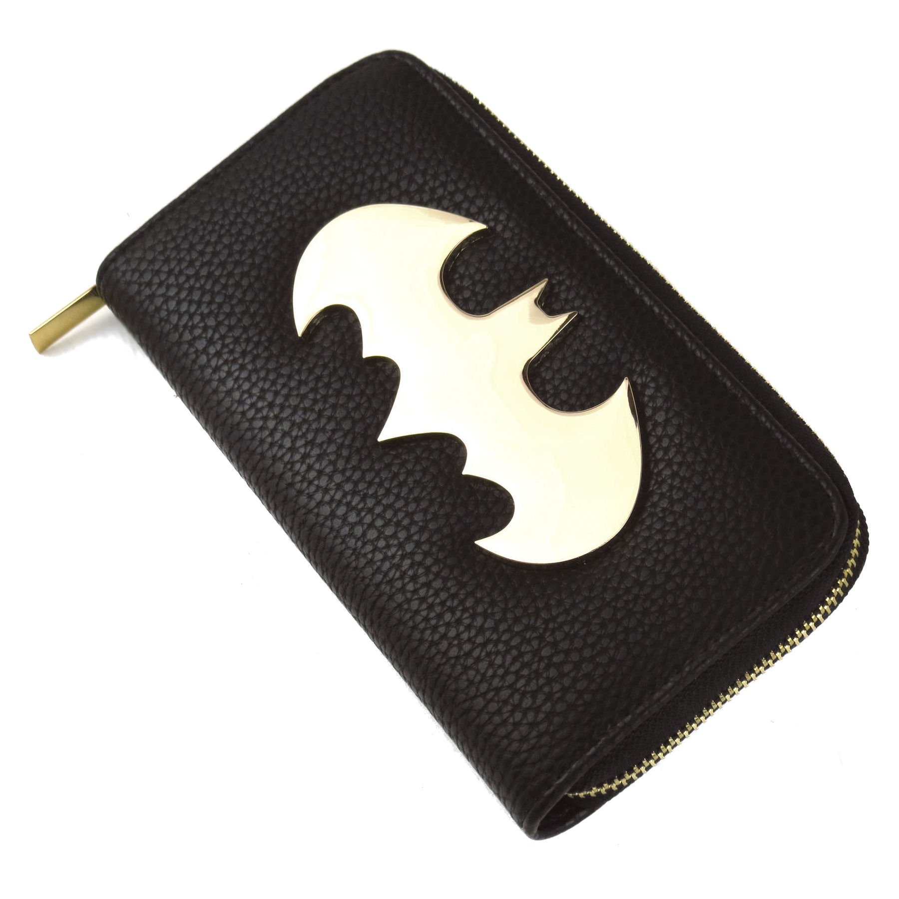 Large Batman Gold Logo Zipped Purse